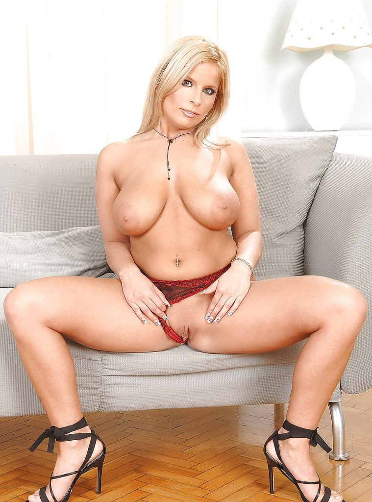 Lucy Love - White Dildo On Grey Couch